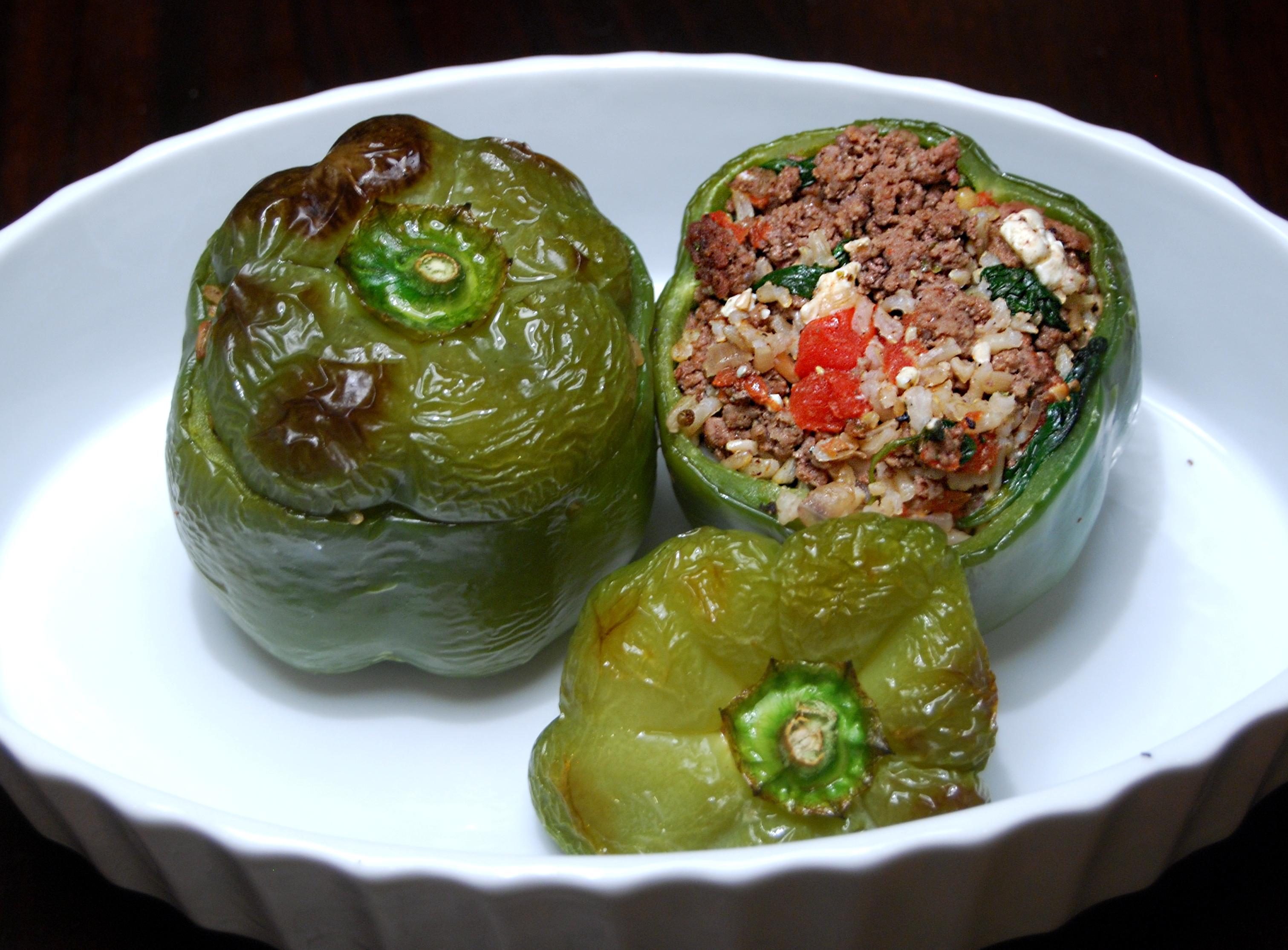 Greek-Style Stuffed Peppers Recipe — Dishmaps